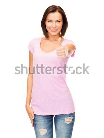 Mulher rosa tanque topo Foto stock © dolgachov