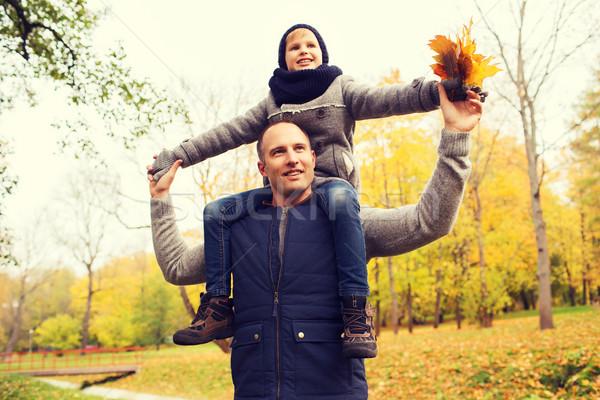 Сток-фото: счастливая · семья · осень · парка · семьи · детство
