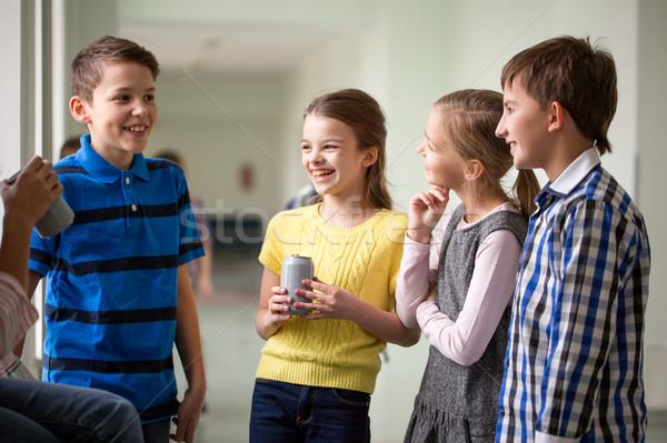 Grupo escolas crianças soda corredor educação Foto stock © dolgachov