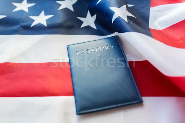 Bandera de Estados Unidos pasaporte ciudadanía nacionalismo azul Foto stock © dolgachov