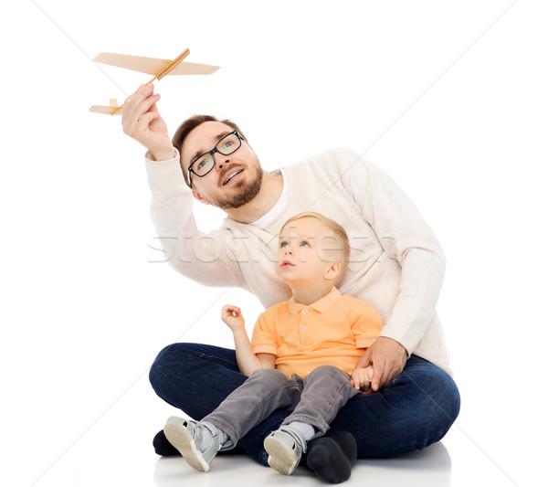 父 演奏 おもちゃ 飛行機 ストックフォト © dolgachov