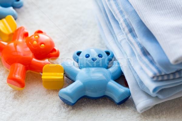 ребенка греметь одежды детство Сток-фото © dolgachov