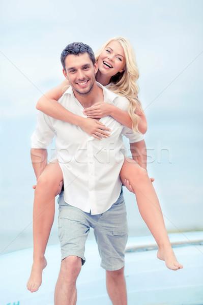 couple at seaside Stock photo © dolgachov