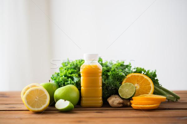 бутылку апельсиновый сок плодов овощей продовольствие Сток-фото © dolgachov