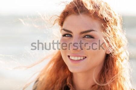 Feliz jovem cara da mulher pessoas Foto stock © dolgachov