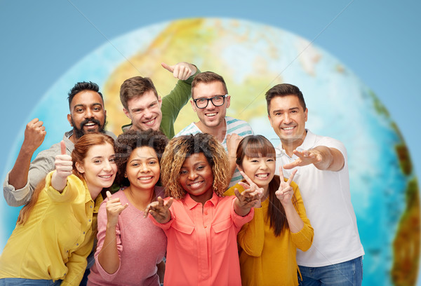 Stockfoto: Internationale · groep · mensen · tonen · diversiteit · race