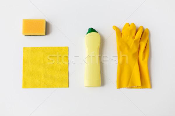 Mosószer takarítás fehér házimunka háztartás háztartás Stock fotó © dolgachov