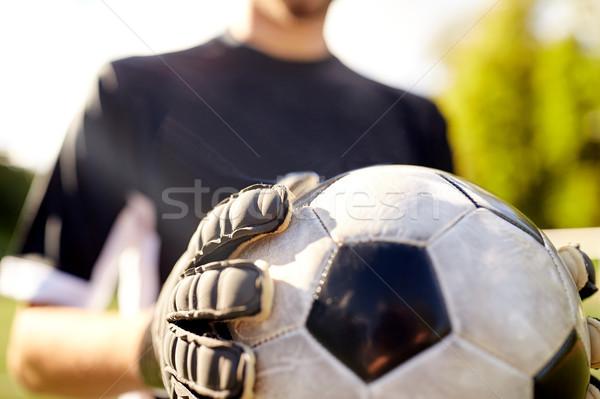 Portero pelota jugando fútbol deporte Foto stock © dolgachov