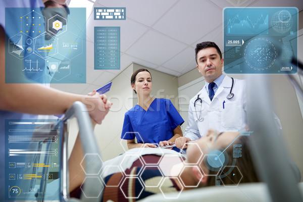 Paziente ospedale emergenza persone sanitaria medicina Foto d'archivio © dolgachov
