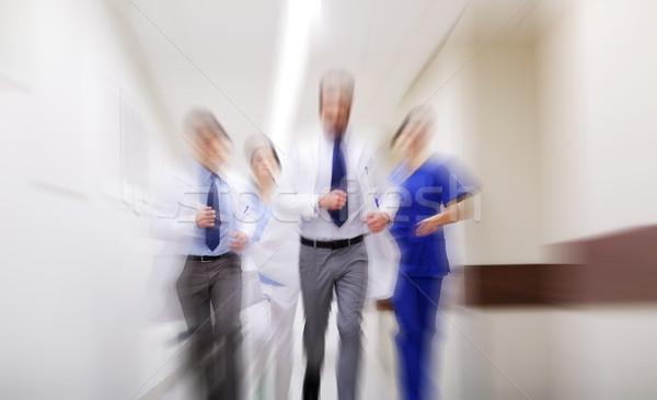 Grupy spaceru szpitala ludzi muzyka Zdjęcia stock © dolgachov
