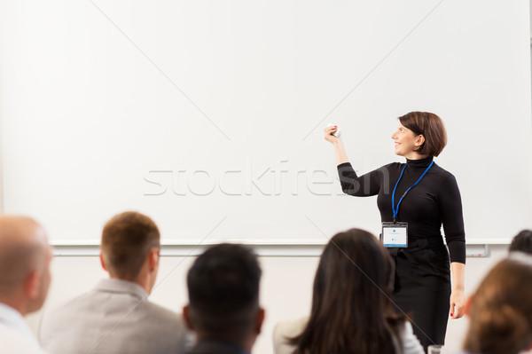 グループの人々  ビジネス 会議 講義 教育 人 ストックフォト © dolgachov