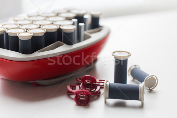 hot rollers kit on table with hair clips Stock photo © dolgachov