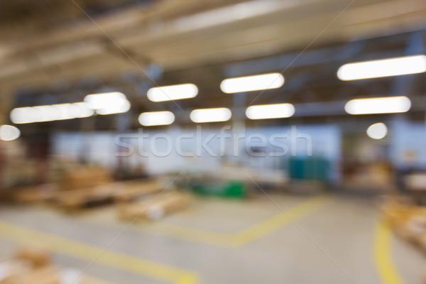 расплывчатый завода семинар производства промышленности Сток-фото © dolgachov