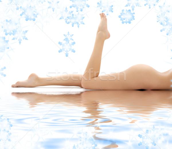 длинные ноги Lady воды фотография женщину Сток-фото © dolgachov