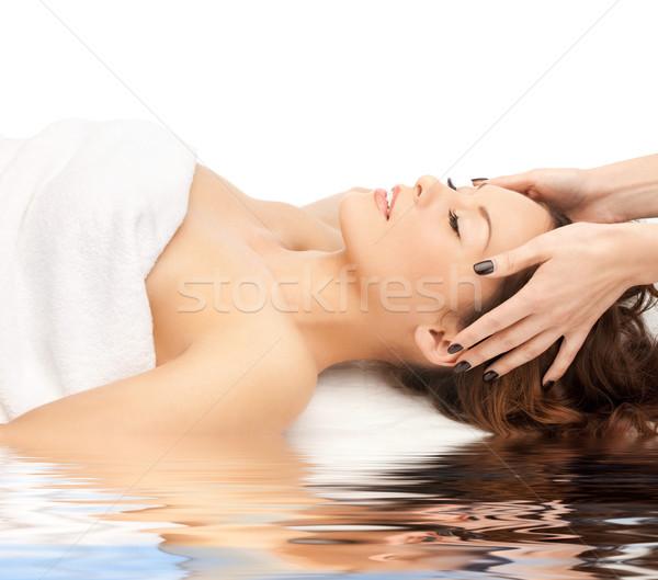 beautiful woman in spa Stock photo © dolgachov