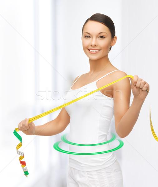 женщину фотография счастливым спорт Сток-фото © dolgachov
