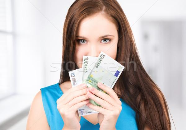 Foto stock: Dinheiro · brilhante · quadro · mulher · escritório