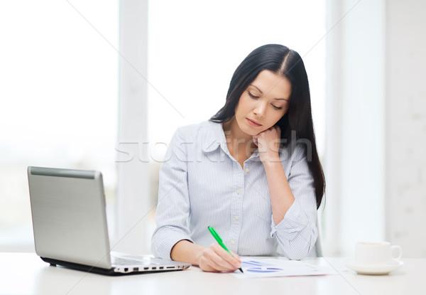 Stockfoto: Moe · zakenvrouw · student · laptop · onderwijs · business