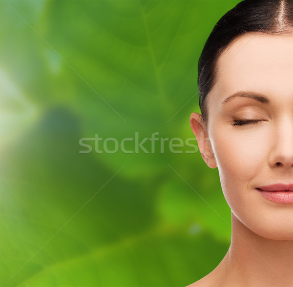 young calm woman with closed eyes Stock photo © dolgachov