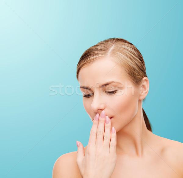young woman doing hush gesrute Stock photo © dolgachov