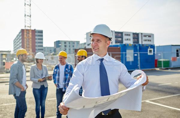 建築 青写真 建設現場 建設 アーキテクチャ ビジネス ストックフォト © dolgachov