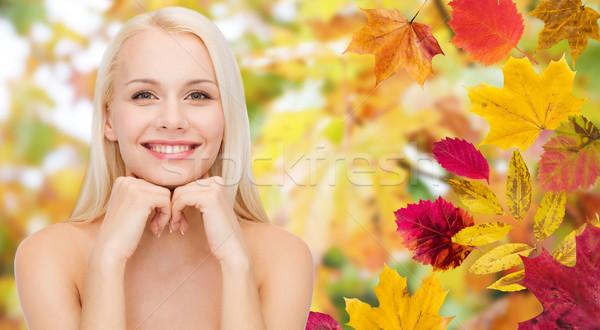 美しい 若い女性 顔 紅葉 美 人 ストックフォト © dolgachov
