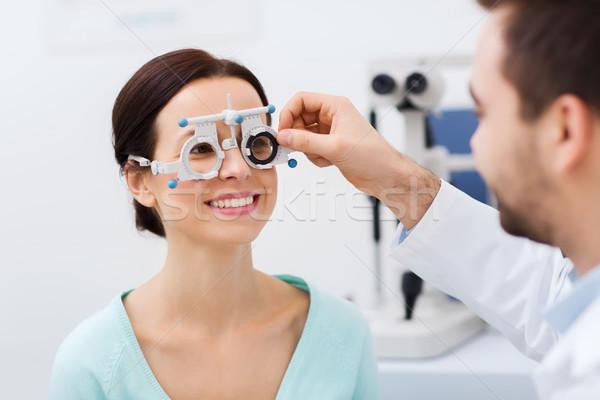 оптик кадр пациент клинике медицина Сток-фото © dolgachov