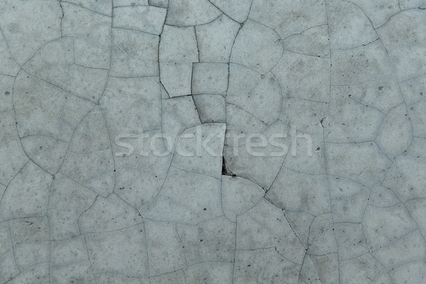 cracked gray concrete wall texture Stock photo © dolgachov