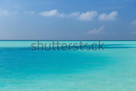 морем небе Мальдивы пляж путешествия туризма Сток-фото © dolgachov