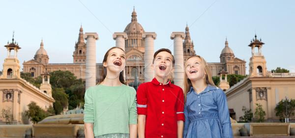 Meglepett gyerekek múzeum Barcelona gyermekkor utazás Stock fotó © dolgachov