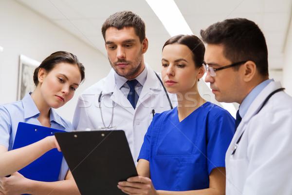 Groep ziekenhuis kliniek mensen gezondheidszorg geneeskunde Stockfoto © dolgachov