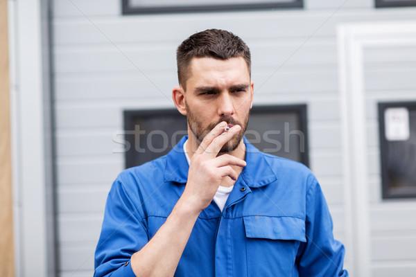 Сток-фото: курение · сигарету · автомобилей · семинар · службе