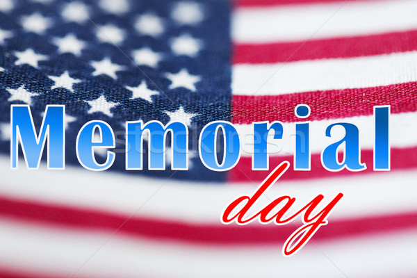 memorial day words over american flag Stock photo © dolgachov