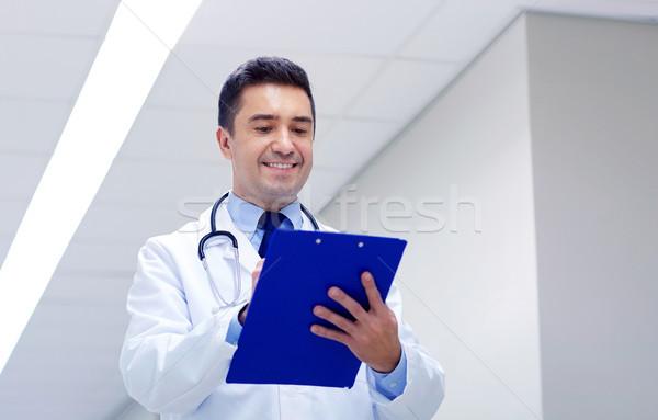 улыбаясь врач буфер обмена больницу коридор клинике Сток-фото © dolgachov