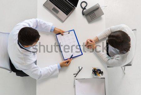 Doktor omurga xray oturma tablo tıp Stok fotoğraf © dolgachov