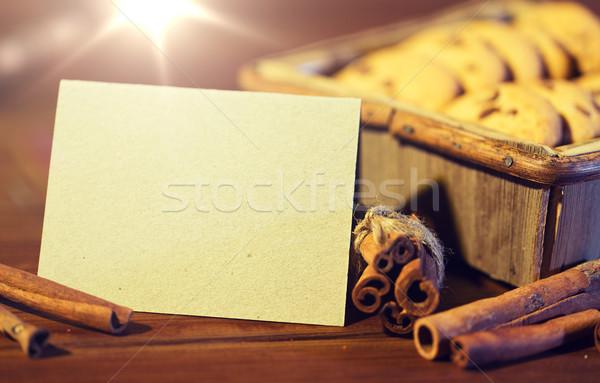 Navidad avena cookies mesa de madera Foto stock © dolgachov