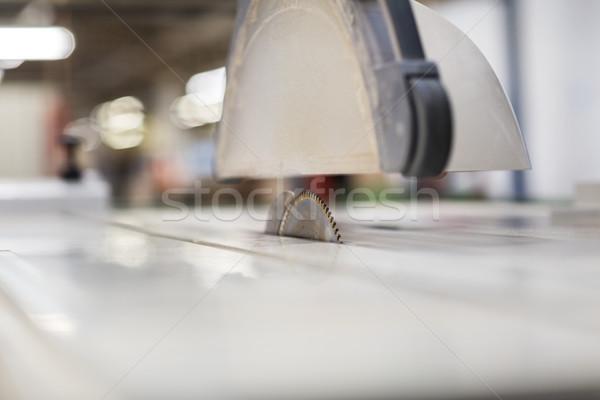 sliding panel saw at workshop Stock photo © dolgachov