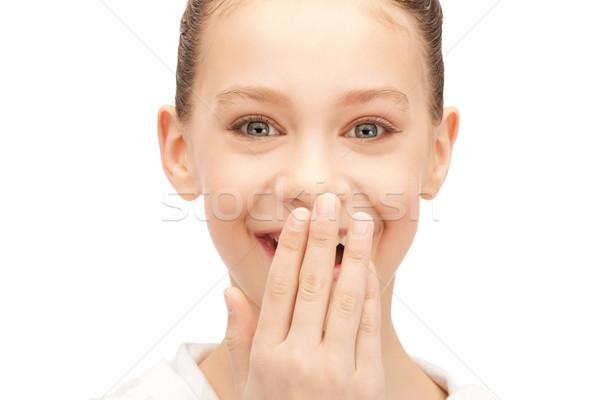 смеясь ярко фотография девушки Сток-фото © dolgachov