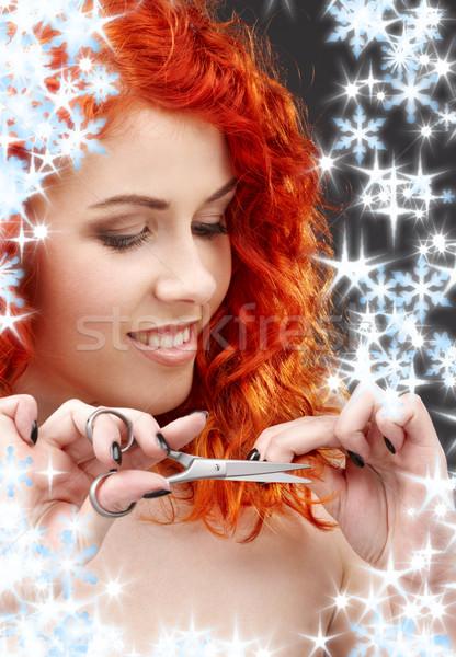 shiny hair Stock photo © dolgachov