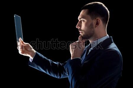 özel ajan zarif adam oynama iş Stok fotoğraf © dolgachov