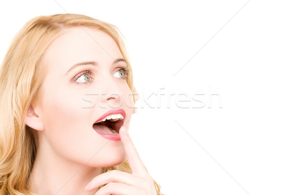 surprised woman face Stock photo © dolgachov