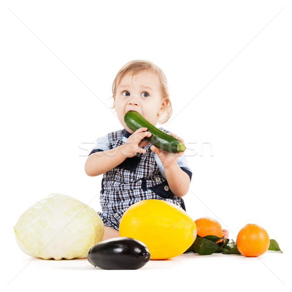 Manger squash enfance aliments sains cute Photo stock © dolgachov