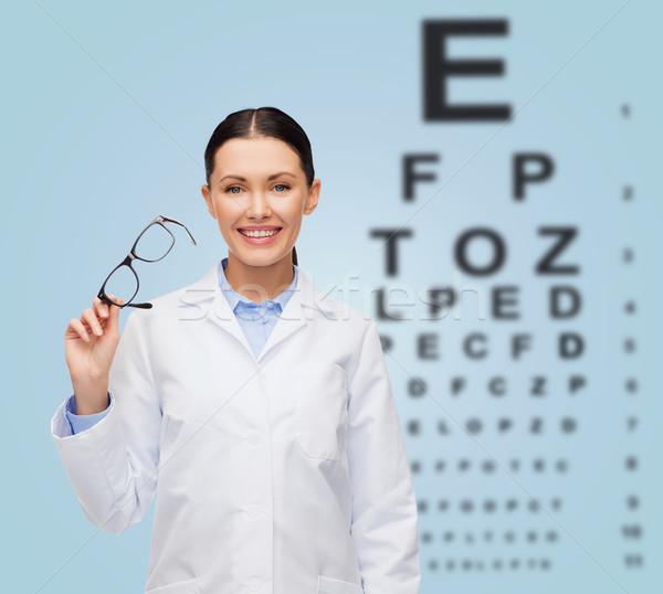 Stok fotoğraf: Gülen · kadın · doktor · stetoskop · sağlık · vizyon