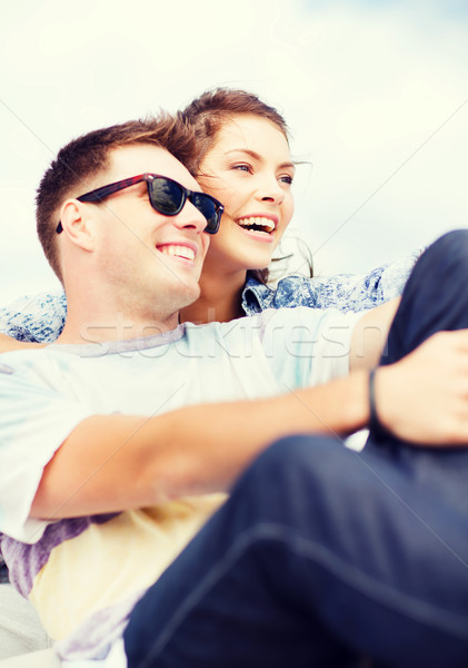 teenagers hanging out outside Stock photo © dolgachov
