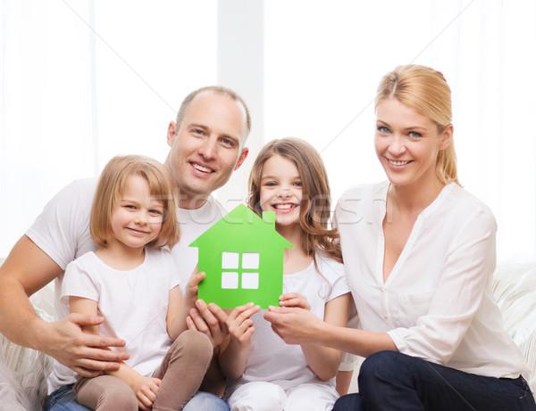 Stockfoto: Glimlachend · ouders · twee · nieuw · huis · onroerend