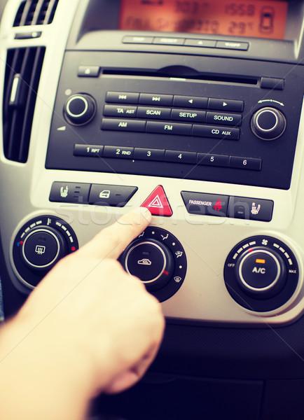 человека автомобилей опасность предупреждение кнопки Сток-фото © dolgachov