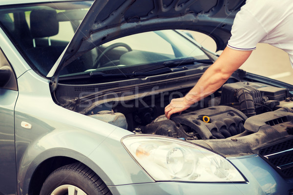 man opening car bonnet Stock photo © dolgachov