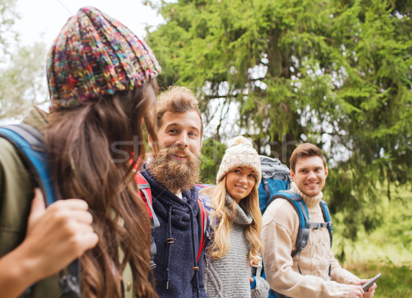 Grup arkadaşlar macera seyahat turizm Stok fotoğraf © dolgachov