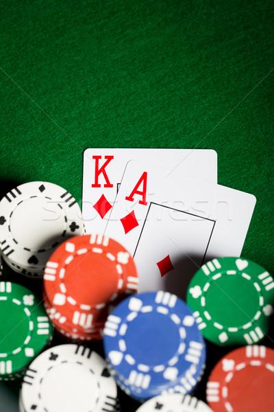 фишки казино игральных карт игорный игры развлечения Сток-фото © dolgachov