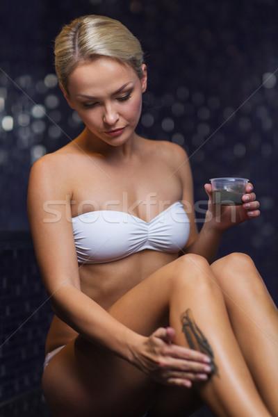 美人 適用 泥 スパ 人 ストックフォト © dolgachov